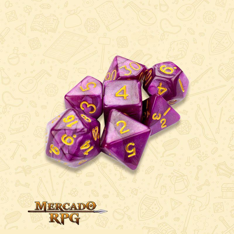 Kit Completo de Dados RPG RPG - Abyssal Mist