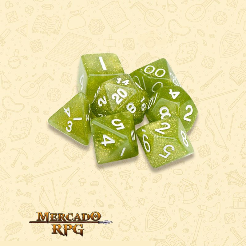 Kit Completo de Dados RPG - Serpent  - Mercado RPG