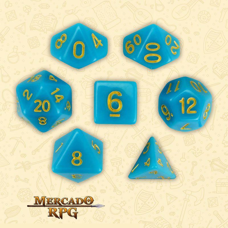 Kit Completo de Dados RPG - Skystone  - Mercado RPG