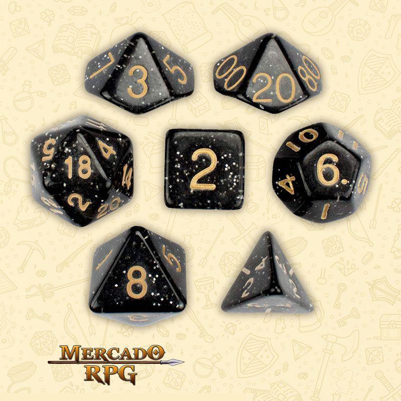 Kit Completo de Dados RPG - Stardust  - Mercado RPG