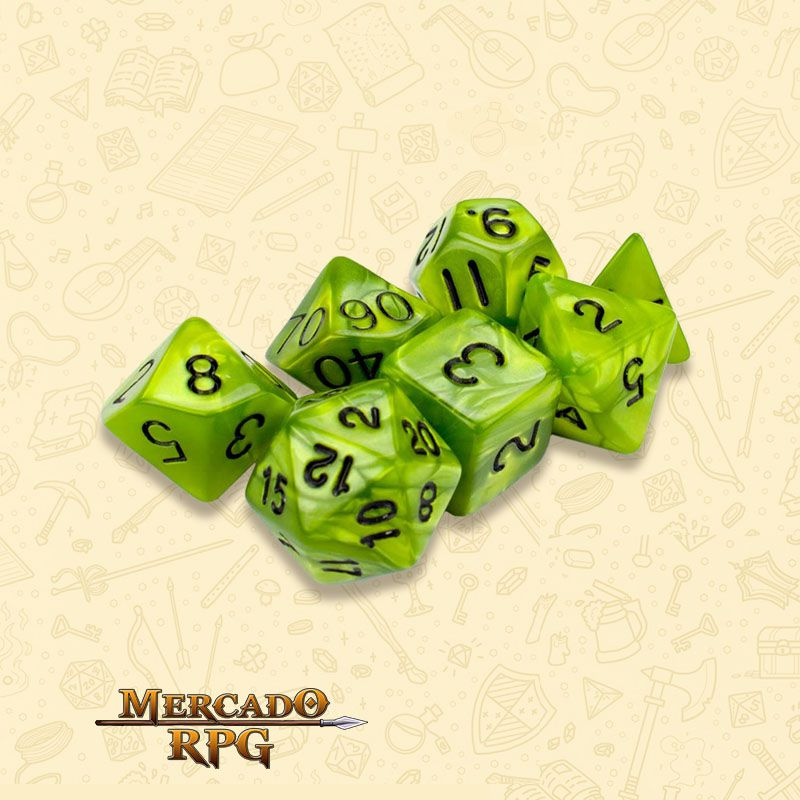 Kit Completo de Dados RPG - Swamp Ooze  - Mercado RPG