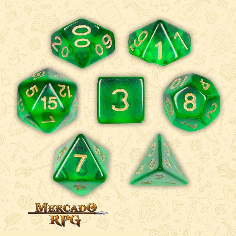 Kit Completo de Dados RPG - Sylvan Spirits  - Mercado RPG