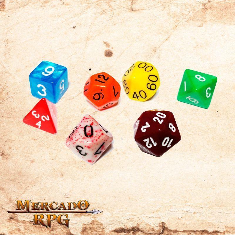 Kit Completo de Dados Sortidos  - Mercado RPG