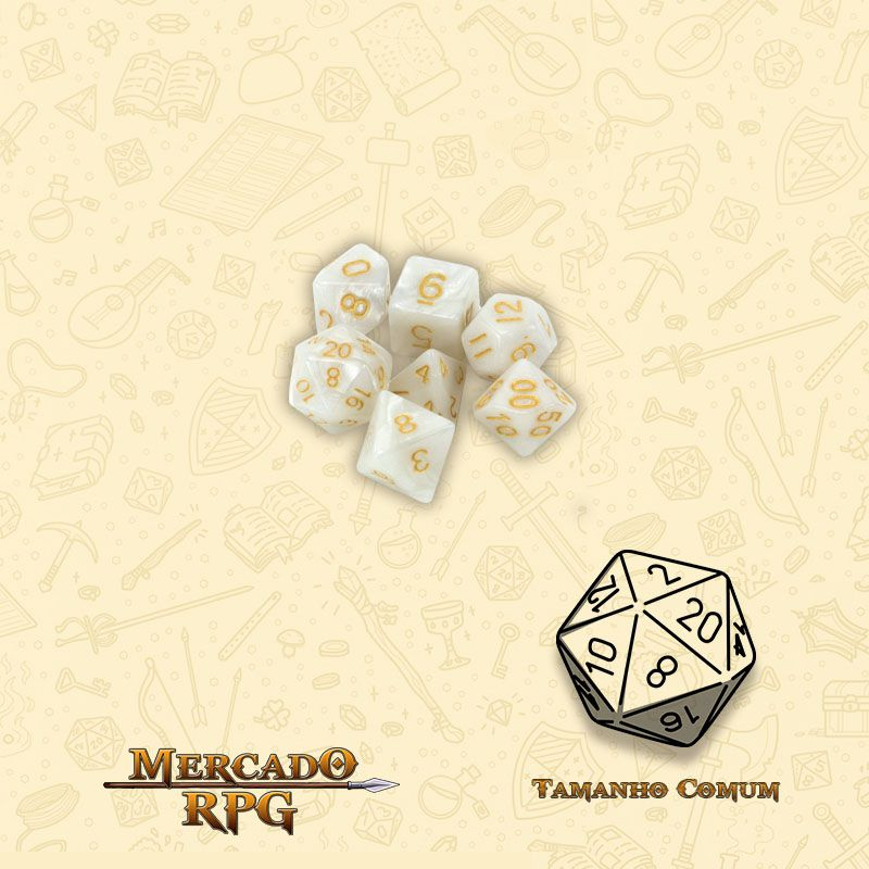 Kit Completo de Mini Dados RPG - Forbidden Treasure  - Mercado RPG
