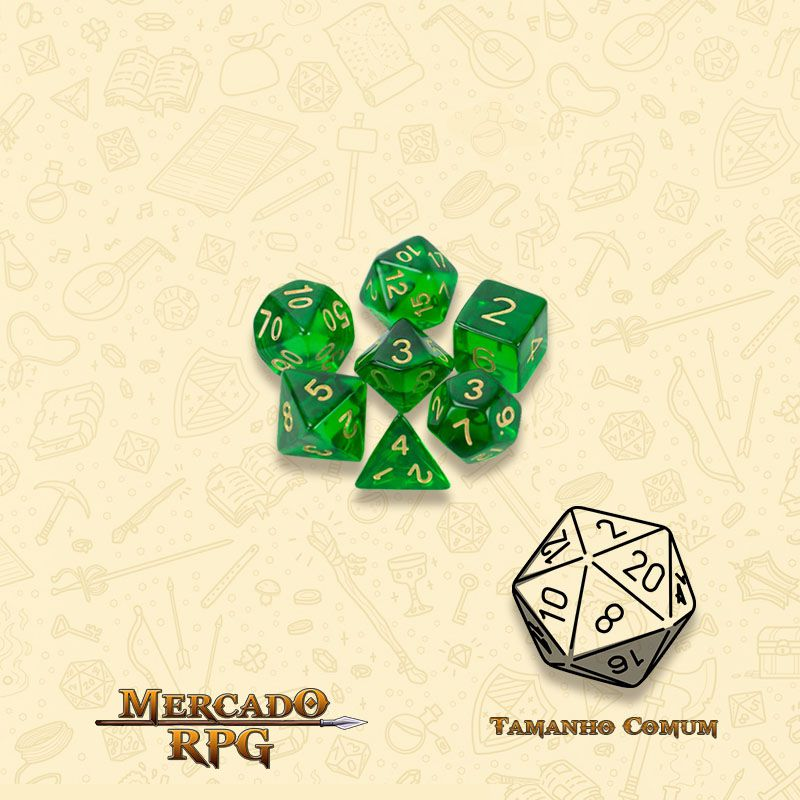 Kit Completo de Mini Dados RPG - Sylvan Spirits  - Mercado RPG