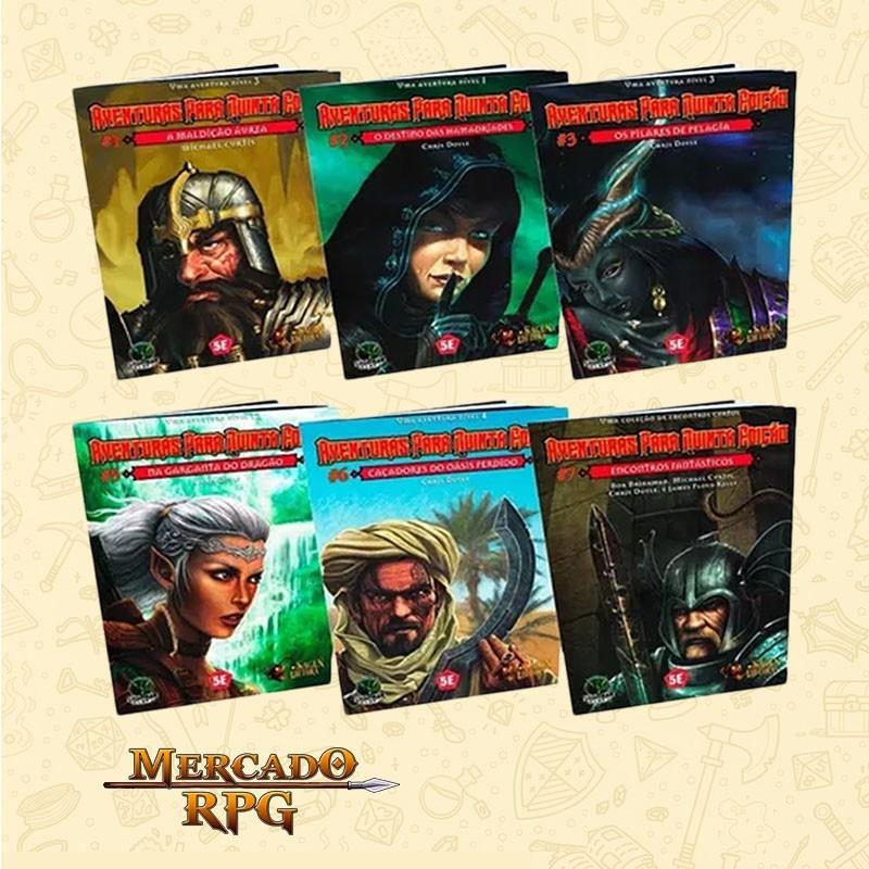 Kit de Aventuras para a quinta edição - RPG  - Mercado RPG