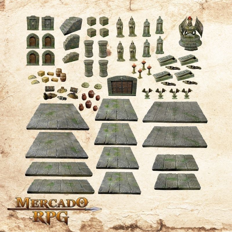 Kit de Cenário Dungeon  - Mercado RPG