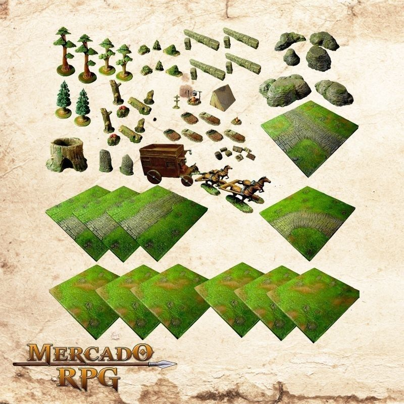 Kit de Cenário Estrada  - Mercado RPG