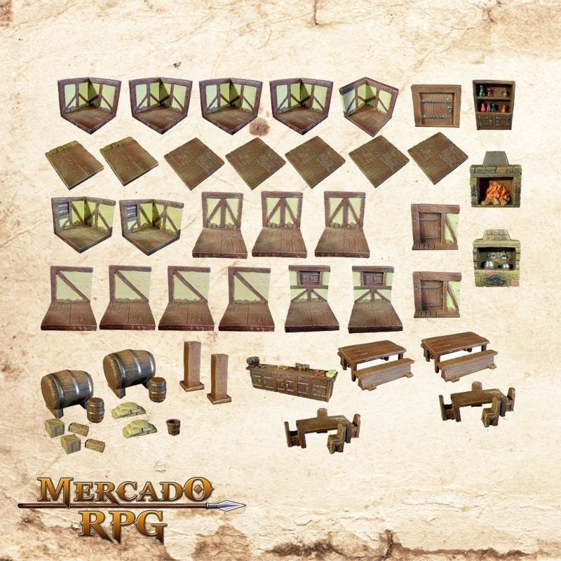 Kit de Cenário Taverna  - Mercado RPG