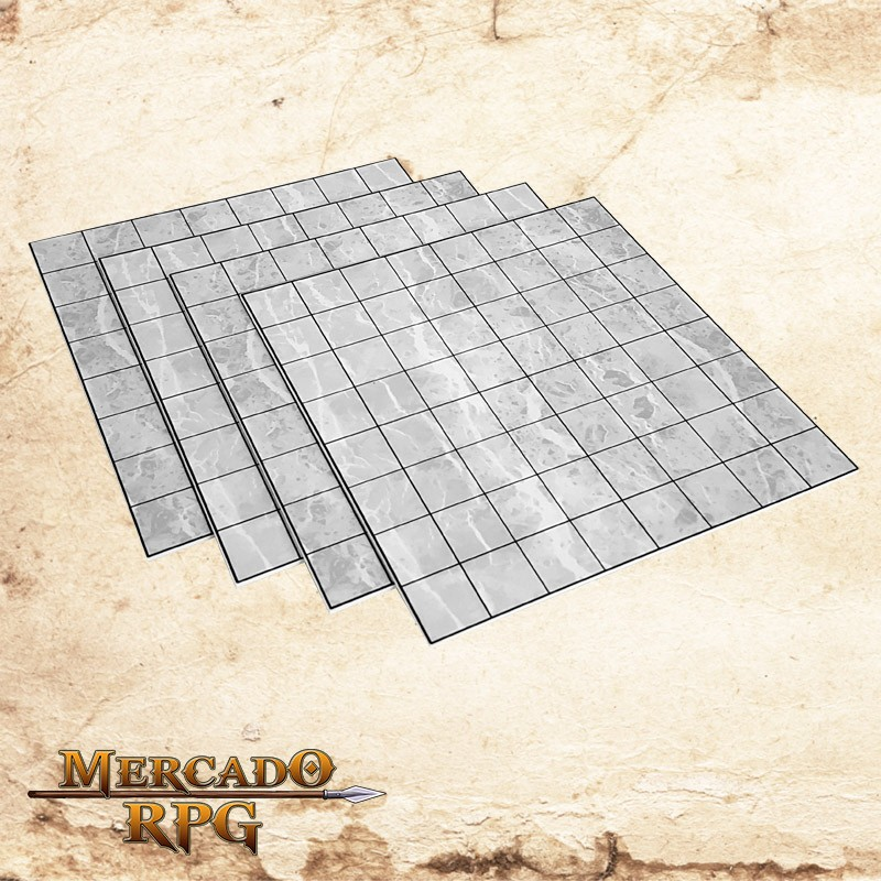 Kit de Grid Riscável A - RPG Battle Grid D&D  - Mercado RPG