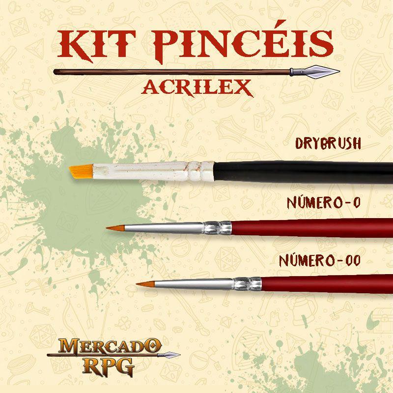 Kit de Pincéis Acrilex - RPG