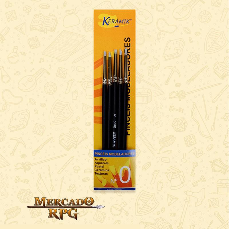 Kit de Pincéis Modeladores Keramik 0  - Mercado RPG