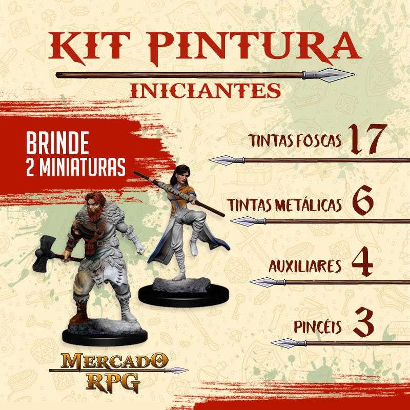 Kit de Pintura para Iniciantes com Miniaturas - RPG