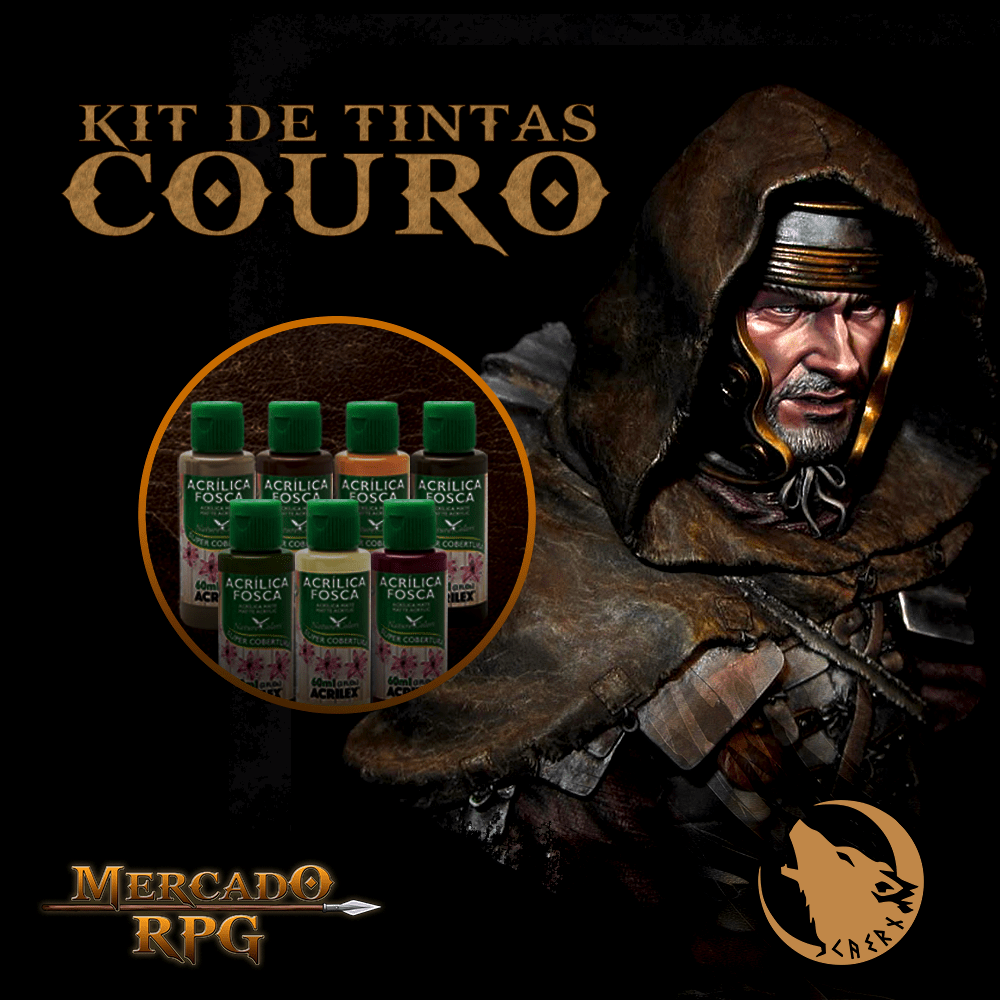 Kit de Tintas Couro Caern Studios - Acrilex - RPG