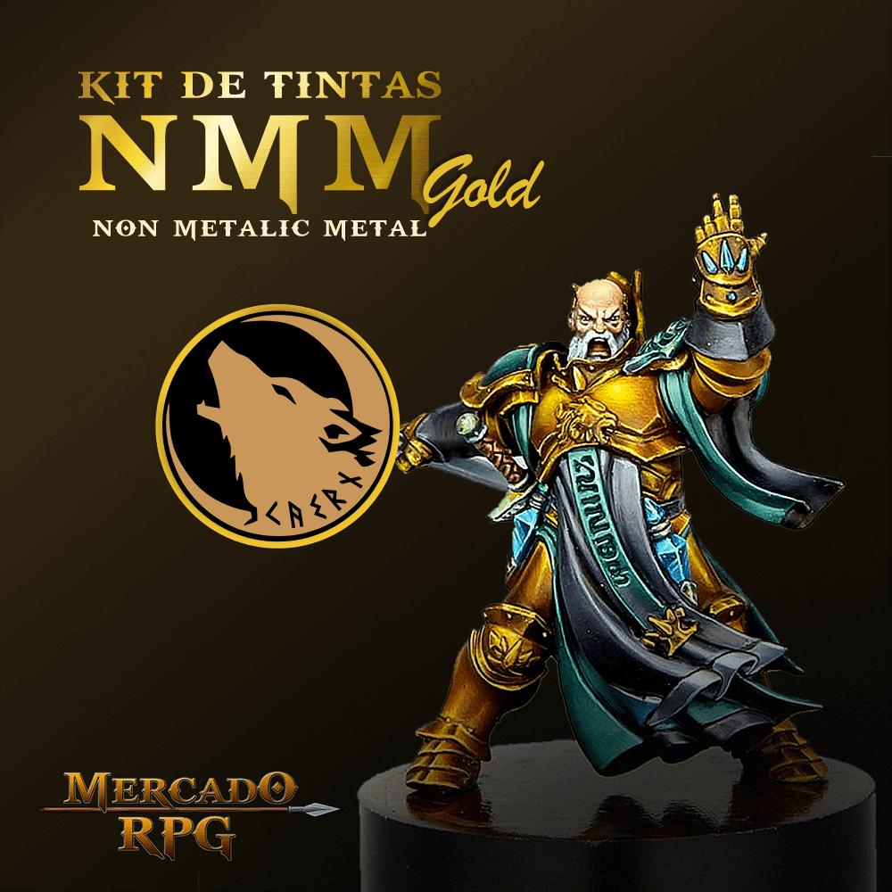 Kit de Tintas NMM GOLD - Non Metallic Metal - RPG