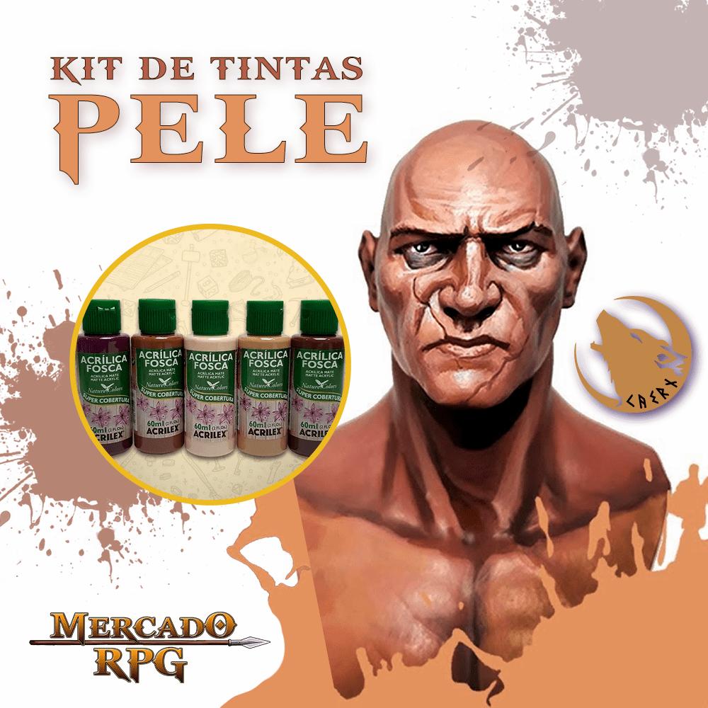 Kit de Tintas Peles Caern Studios - Acrilex - RPG