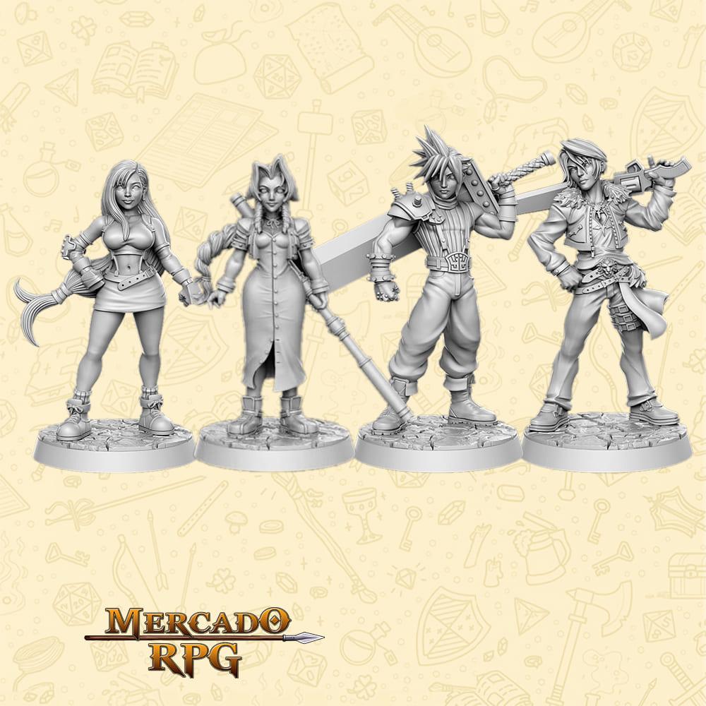Kit Final Fantasy - Miniaturas para RPG