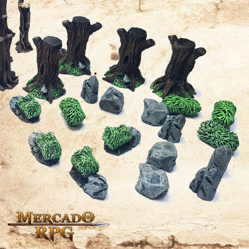 Kit Floresta  - Mercado RPG