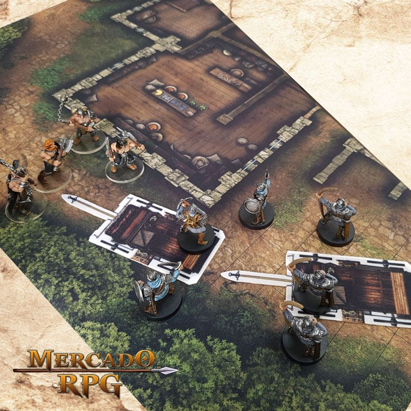 Kit Grid Carruagem - RPG Battle Grid D&D - Mercado RPG