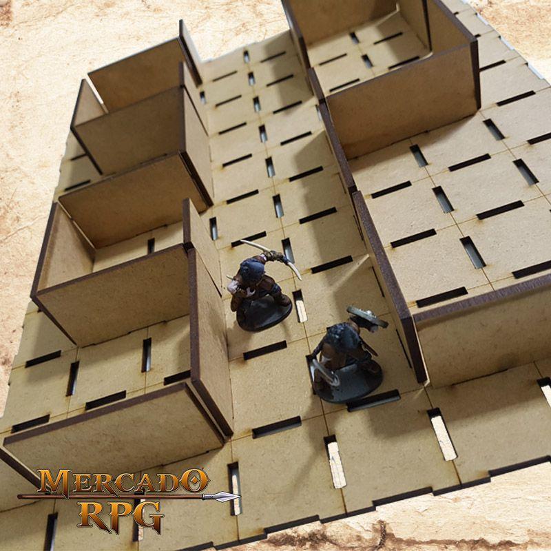 Kit Grid  Modular 3D  - Mercado RPG