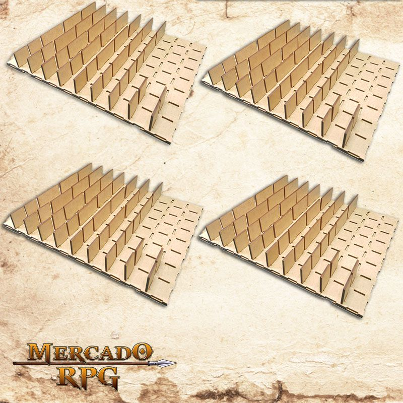 Kit Grid Modular 3D Grid de Batalha - RPG Battle Grid D&D