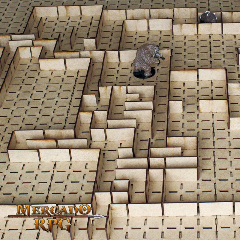 Kit Grid Modular 3D - RPG Battle Grid D&D  - Mercado RPG
