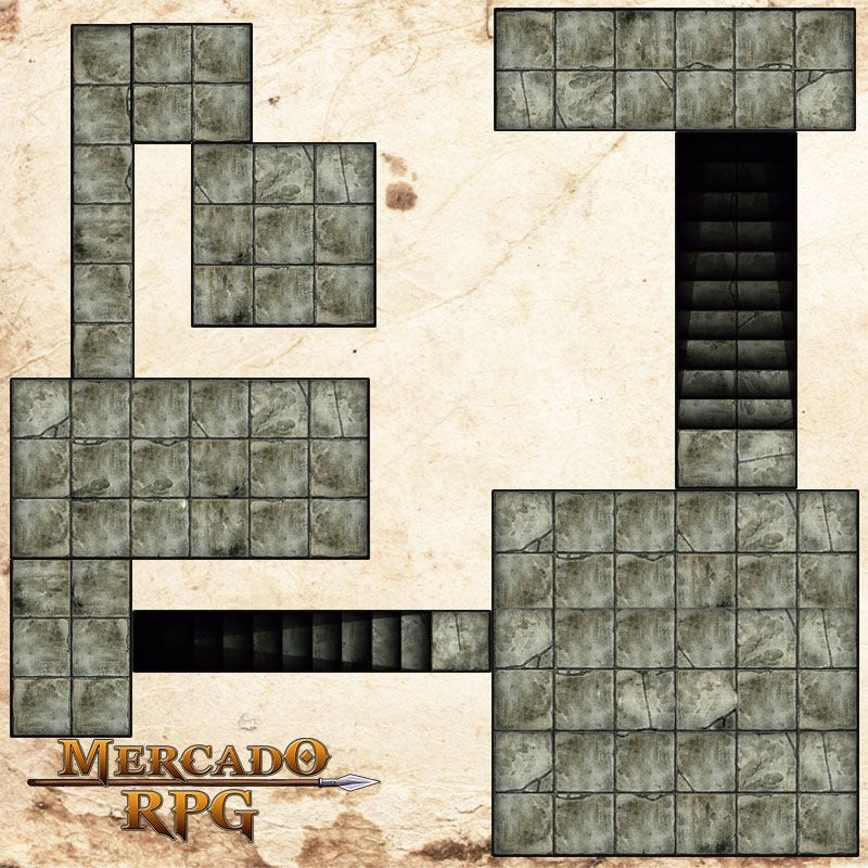 Kit Grid Riscável Modular - RPG Battle Grid D&D