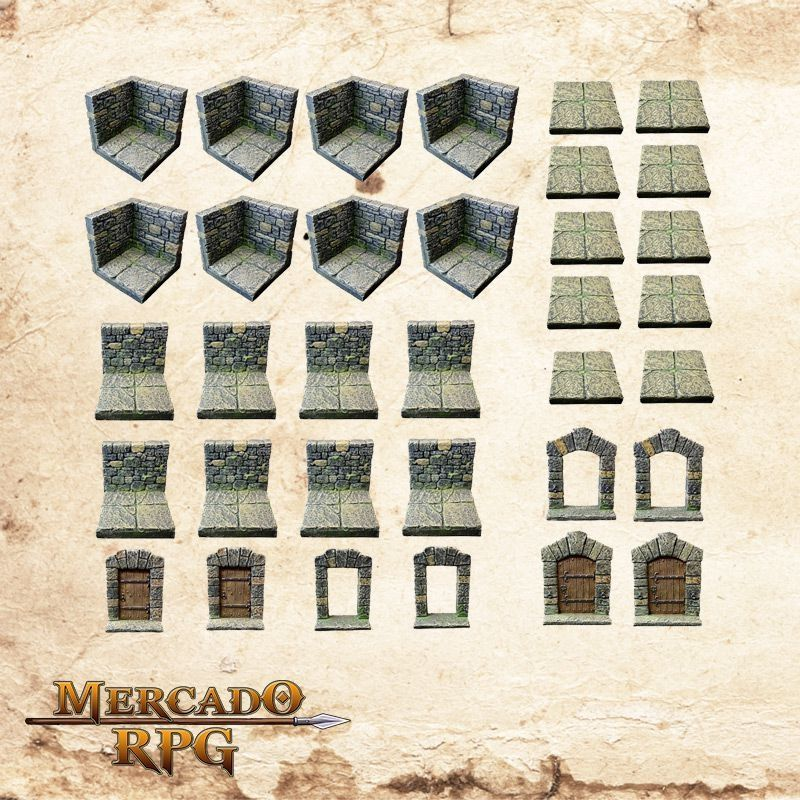 Kit Masmorra 3D  - Mercado RPG