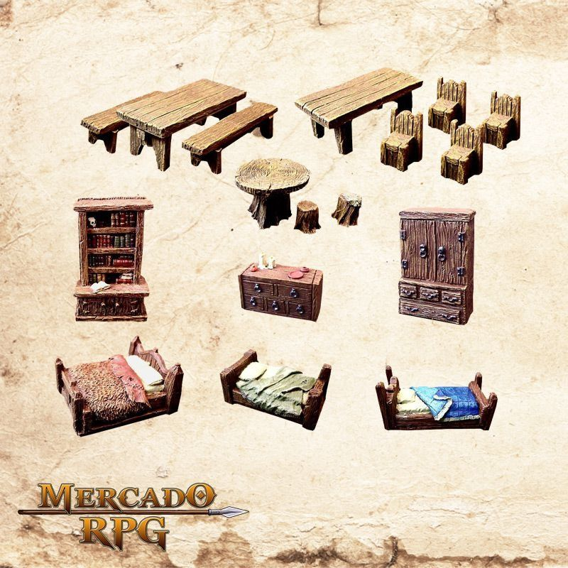 Kit Mobília  - Mercado RPG