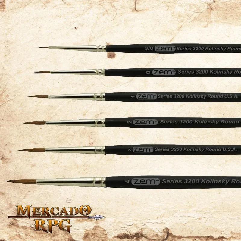 Kit Pincéis Zem Brush com Pincel Drybrush- RPG
