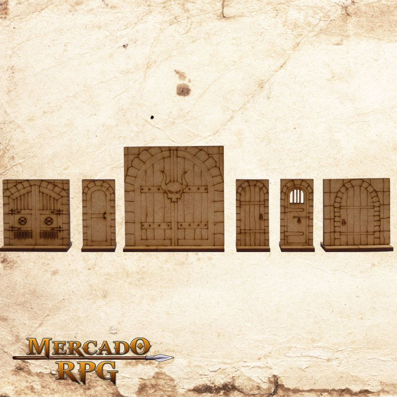Kit Portas Dungeon 3D