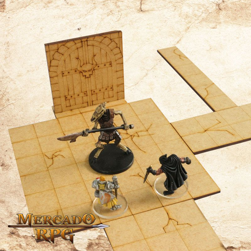 Kit Portas Dungeon 3D - RPG Battle Grid D&D  - Mercado RPG
