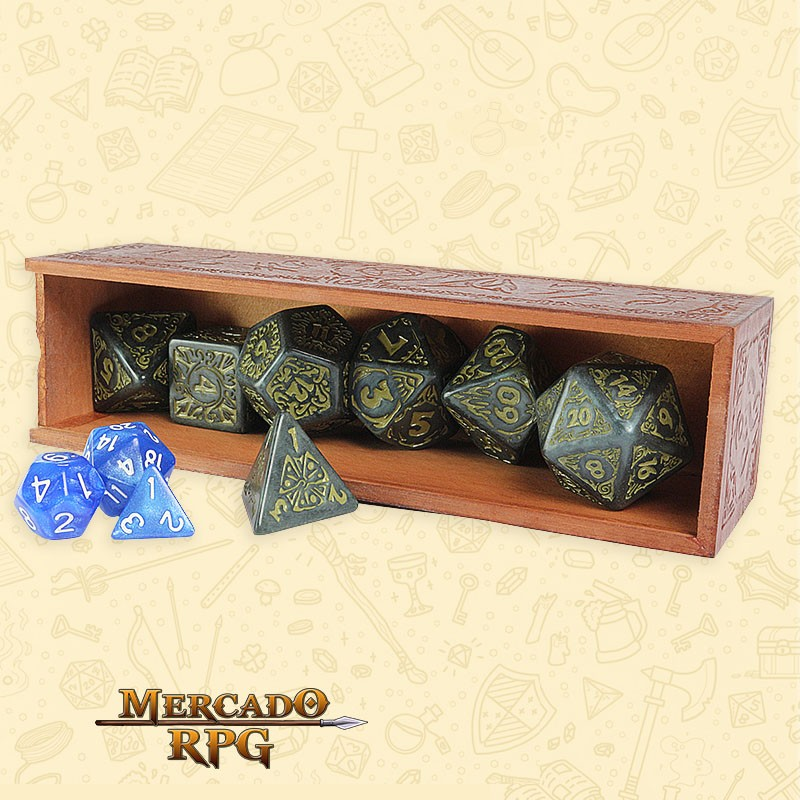 Kit Premium de Dados de RPG - Titan Dice: Nyx - 25mm  - Mercado RPG