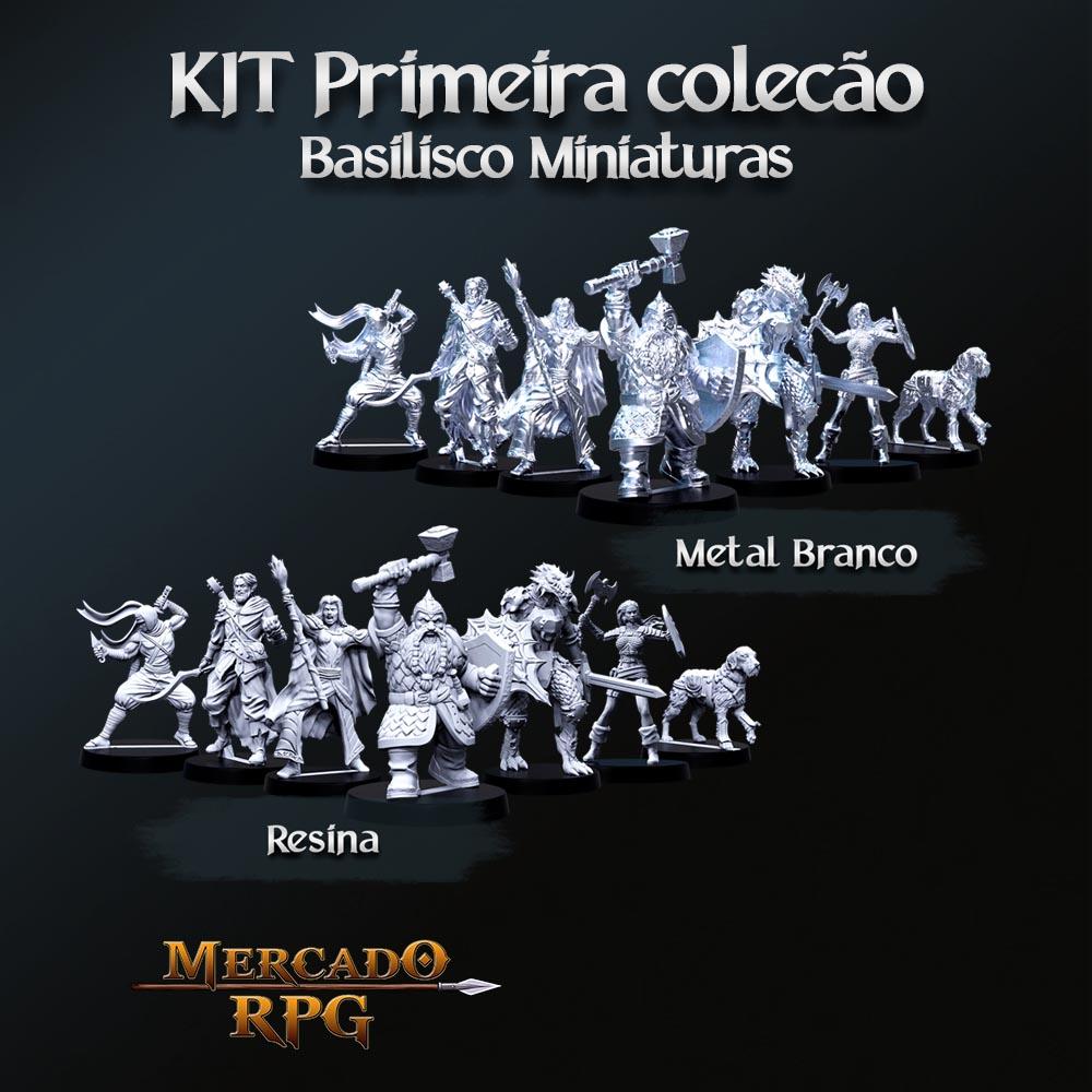 Kit Primeira Coleção Basilisco Miniaturas - Miniaturas para RPG