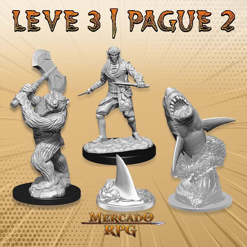 KIT PROMOCIONAL F - LEVE 3 PAGUE 2 - Miniatura RPG  - Mercado RPG