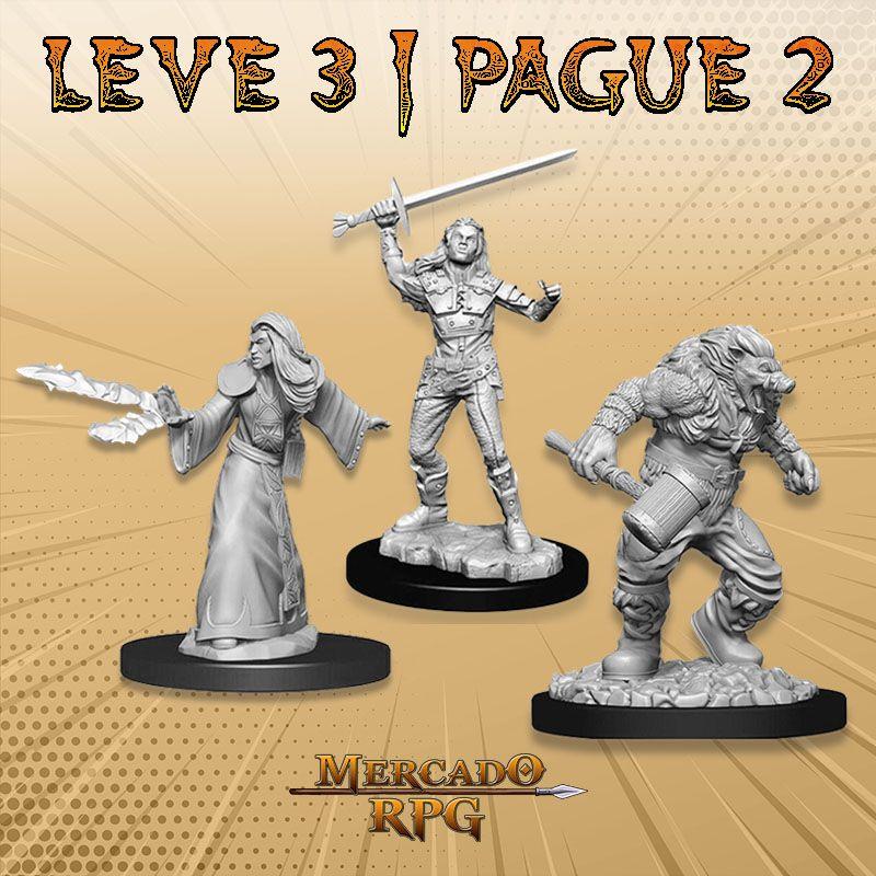 KIT PROMOCIONAL G - LEVE 3 PAGUE 2 - Miniatura RPG  - Mercado RPG