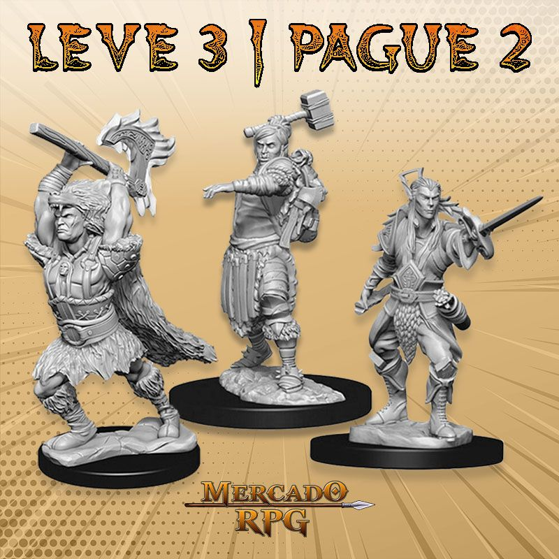 KIT PROMOCIONAL I - LEVE 3 PAGUE 2 - Miniatura RPG