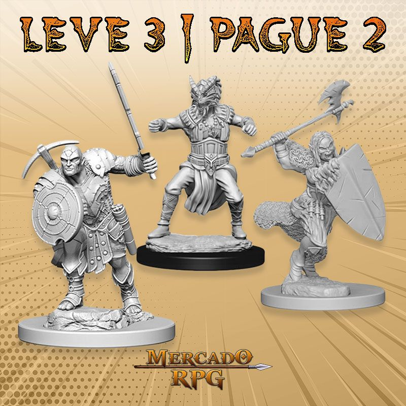 KIT PROMOCIONAL K - LEVE 3 PAGUE 2 - Miniatura RPG