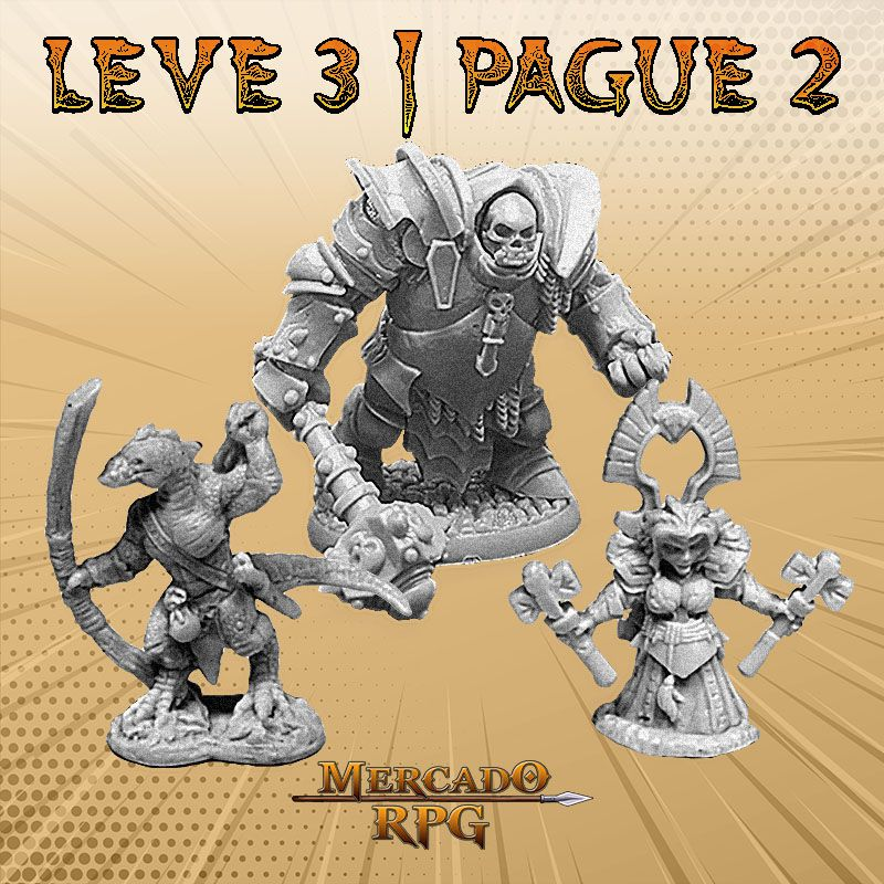 KIT PROMOCIONAL O - LEVE 3 PAGUE 2 - Miniatura RPG