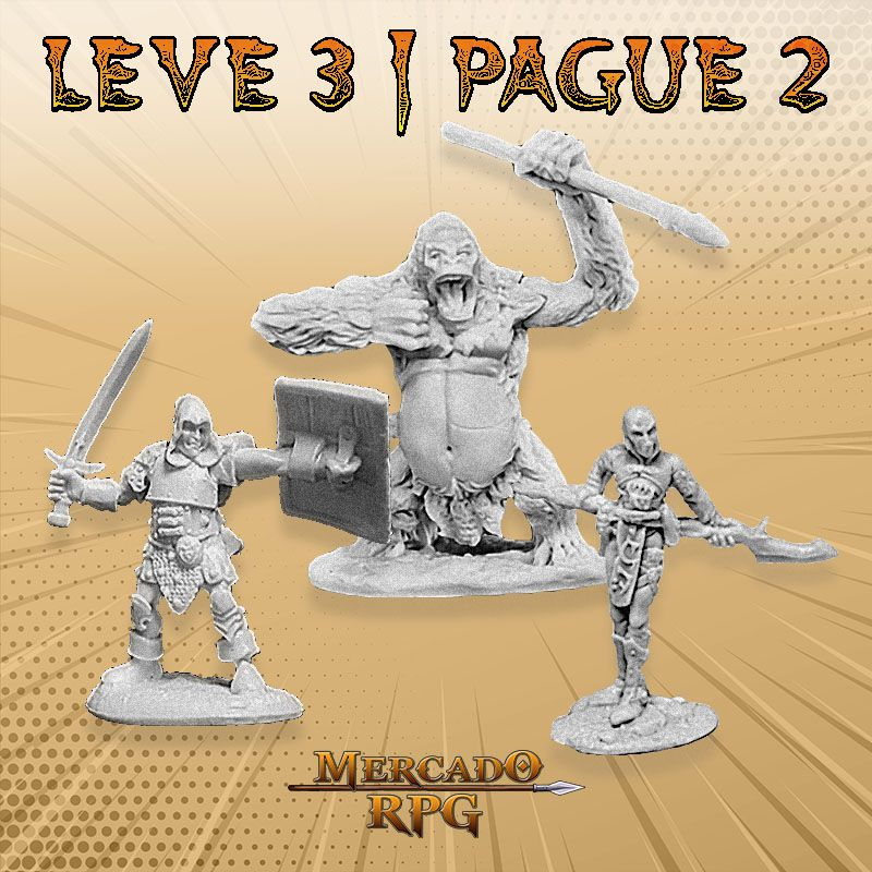 KIT PROMOCIONAL P - LEVE 3 PAGUE 2 - Miniatura RPG