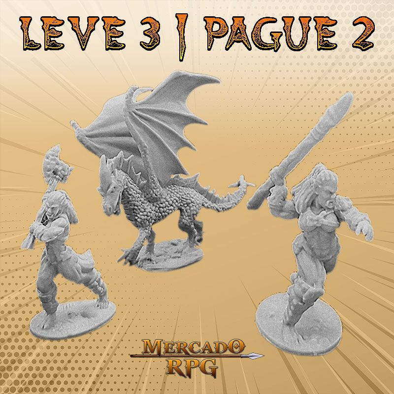 KIT PROMOCIONAL Q - LEVE 3 PAGUE 2 - Miniatura RPG  - Mercado RPG