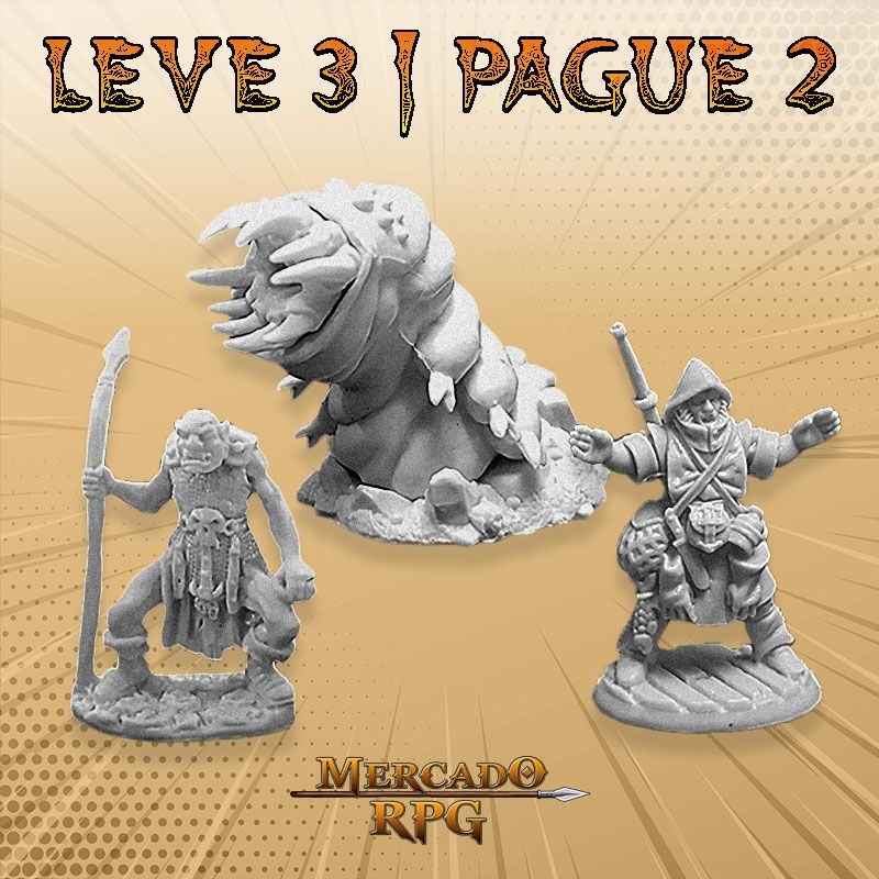 KIT PROMOCIONAL S - LEVE 3 PAGUE 2 - Miniatura RPG