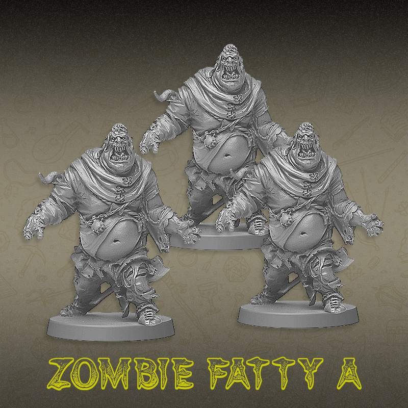 Kit Promocional - Trio Zombie Fatty A