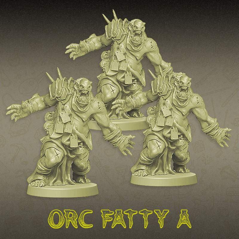 Kit Promocional - Trio Orc Fatty A