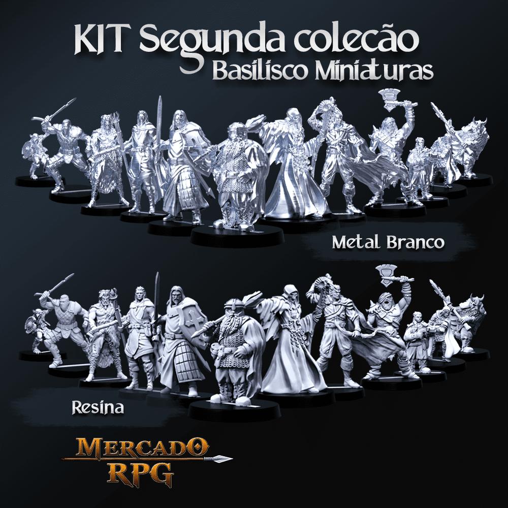 Kit Segunda Coleção Basilisco Miniaturas - Miniaturas para RPG