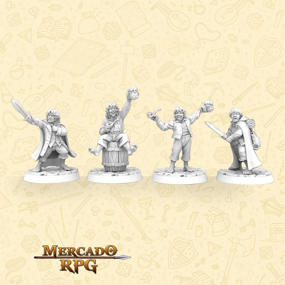 Kit The Hobbit's - Miniaturas para RPG