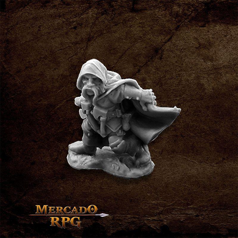 Klaus Copperthumb, Dwarf Thief - Miniatura RPG