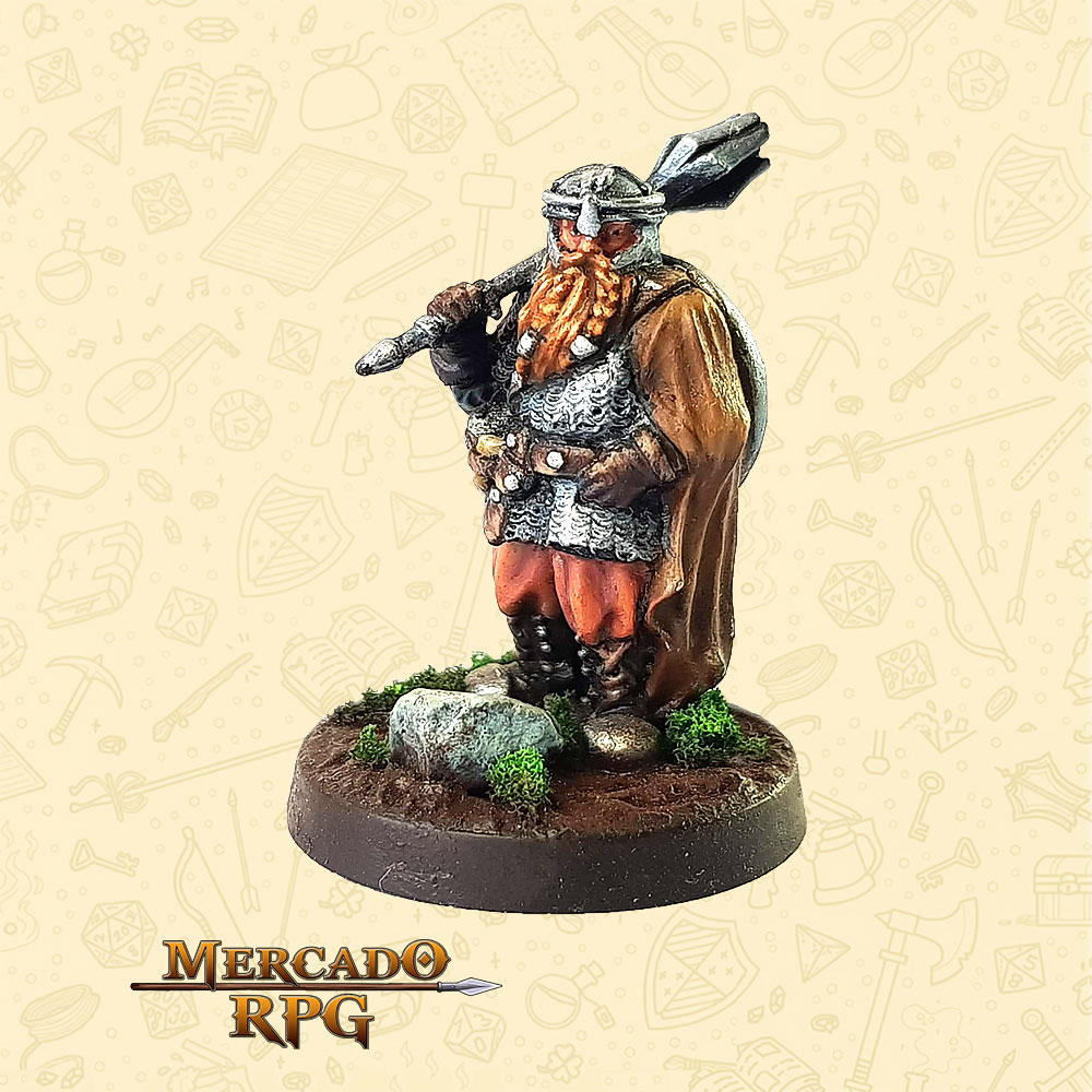 Kromnar Coroa de Aço - Basilisco Miniaturas - Resina - Miniaturas para RPG