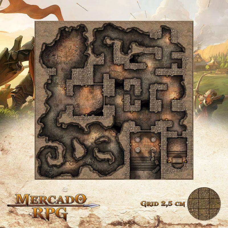 Labirinto do Minotauro 75x75 - RPG Battle Grid D&D