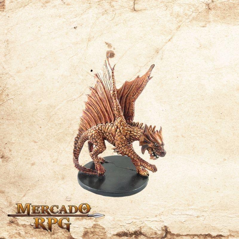 Large Brass Gragon - Sem carta  - Mercado RPG